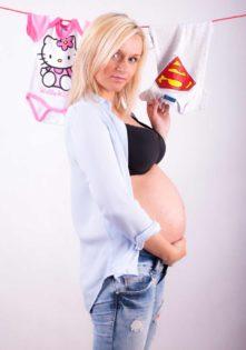 sesja zdjęciowa studio ciąża foto