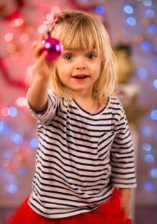 sesja fotograficzna dla dzieci świąteczne zdjęcia