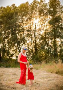 sukienka do sesji ciążowej foto studio szczecin sesja ciążowa z dzieckiem